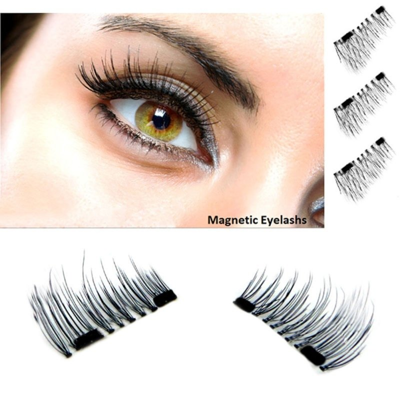 Easy Magnetic Eyelashes 1 Pair - Apply in Seconds - Reusable - No More Glue!  Use on Outer Corner of Top Lashes