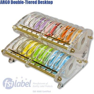 ARGO™ Double-Tier Desktop Anesthesia Label Dispenser (Holds 26 - 1/2