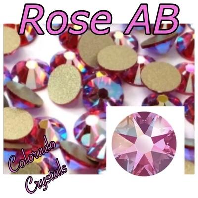 Rose AB 7ss 2058 Limited Pink Rhinestones