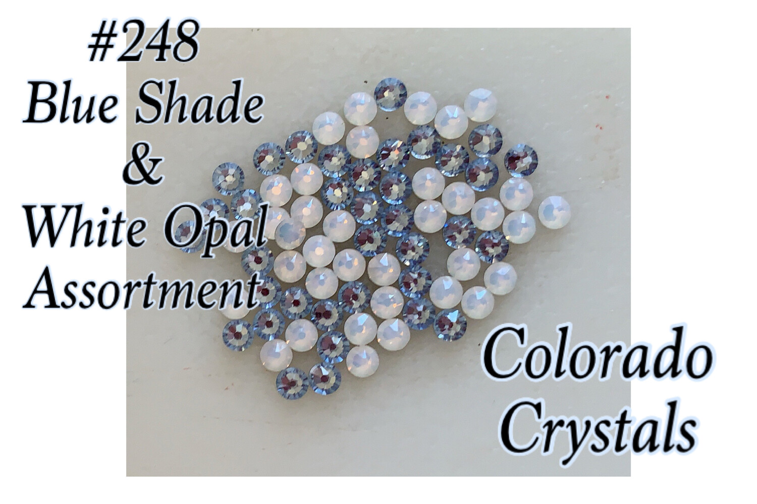 Blue & White Assorted Swarovski 2058 rhinestones