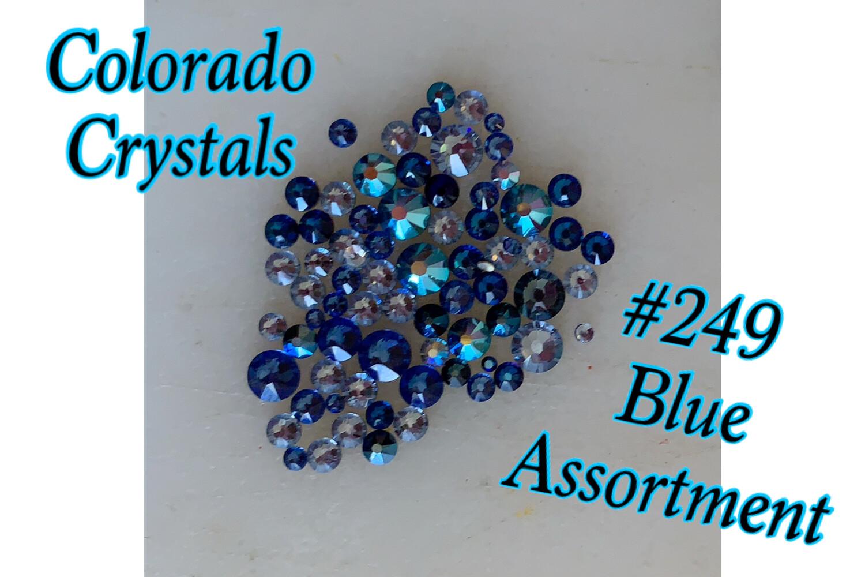 Blue Mix Swarovski rhinestone 2058 Variety pack