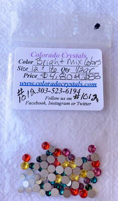 Bright Mix Of Colors Crystal Rhinestones