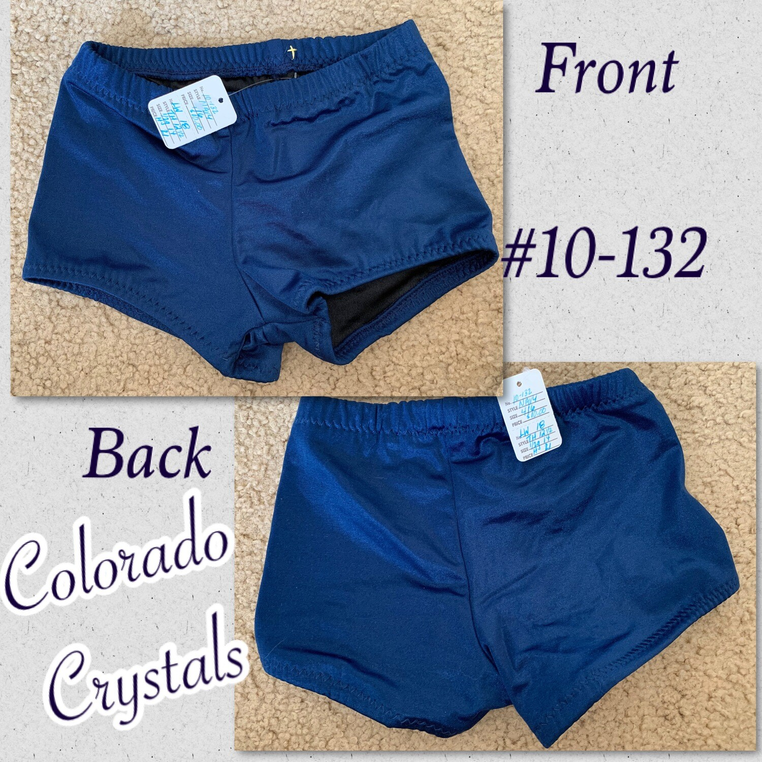 Booty Shorts Child & Toddler size Dance, Cheer Or Gymnastics custom made