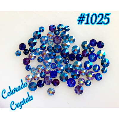 Blue & Purple Mix 2088 Swarovski rhinestones