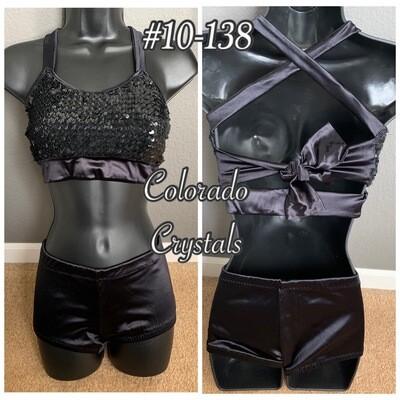 Black Sequin Dance outfit Audition wear