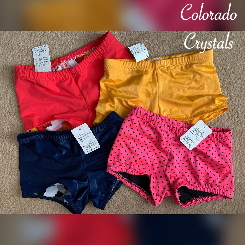 Custom made Child M gently used Dance gymnastics cheer Shorts discounted