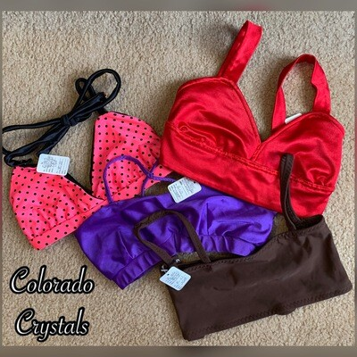 Adult XS Bra tops Dance Audition gear used