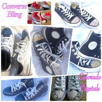 Custom bling Converse