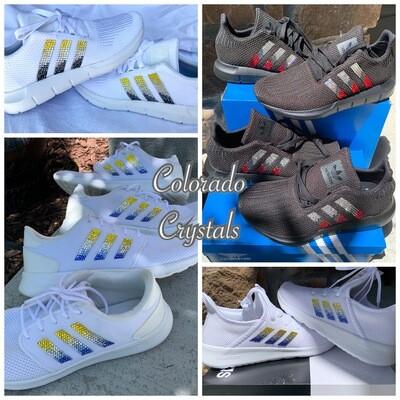 Custom bling Adidas