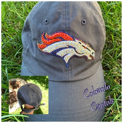 Broncos Hat With Swarovski Crystals