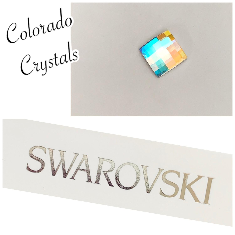 Square Chessboard Crystal AB Swarovski 2493
