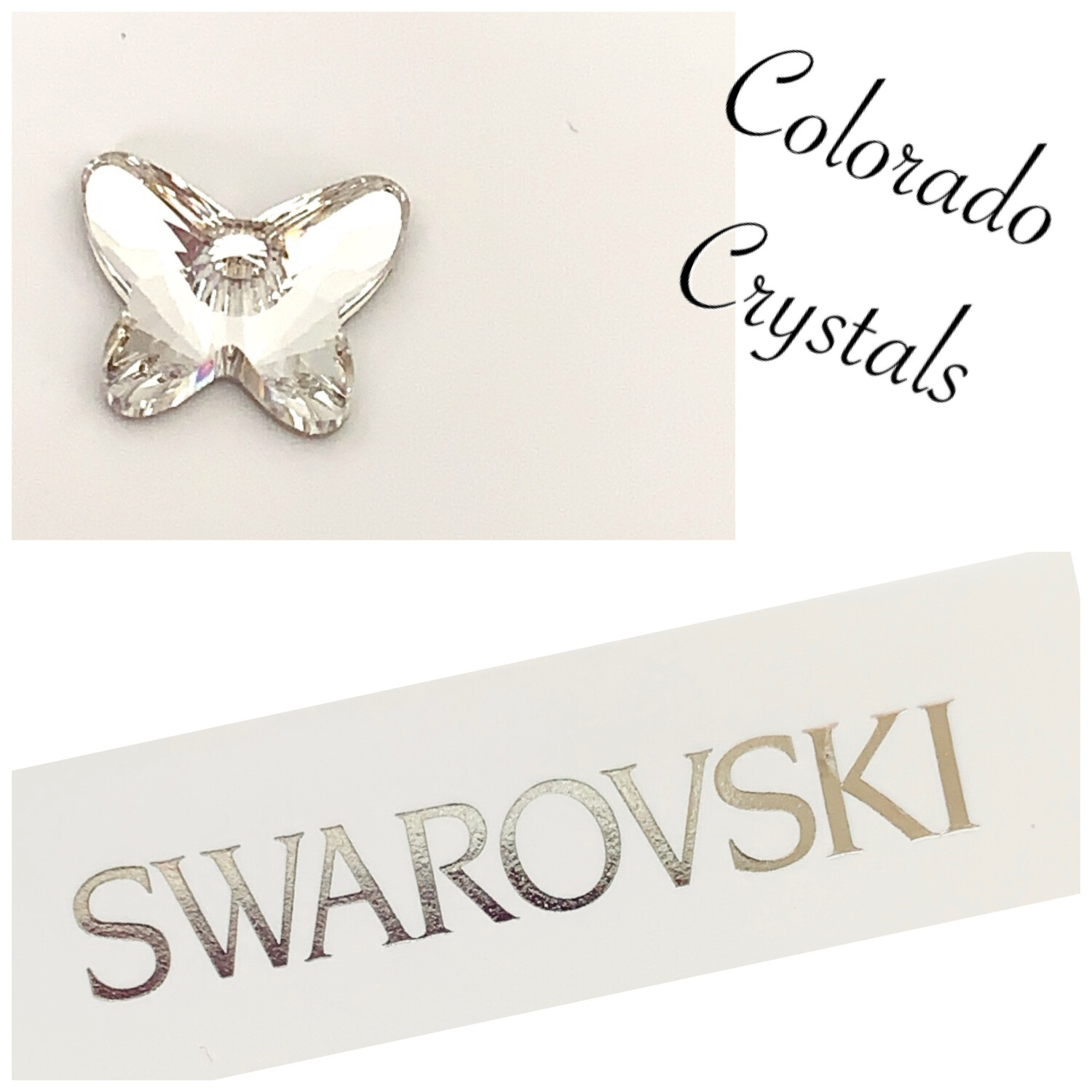 Crystal Butterfly Flat back foiled Swarovski