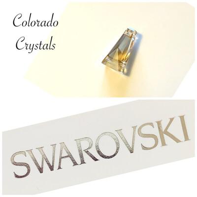 Golden Shadow Key Hole Bead 5181 Swarovski