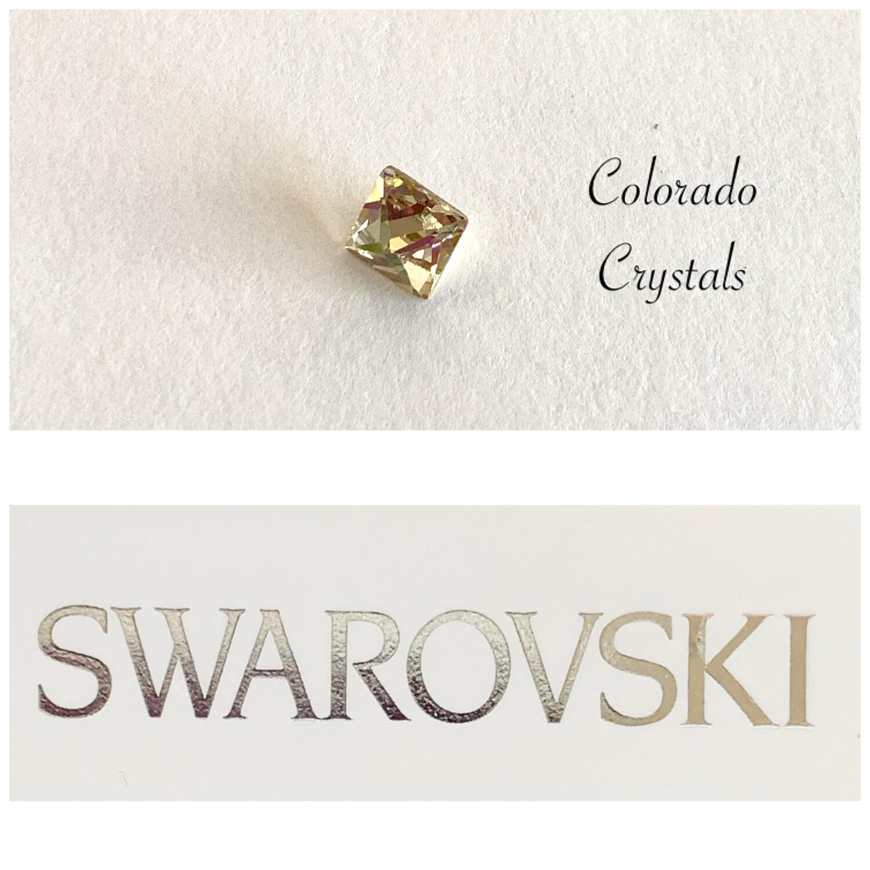 Pointed Square #4418 Crystal AB Swarovski