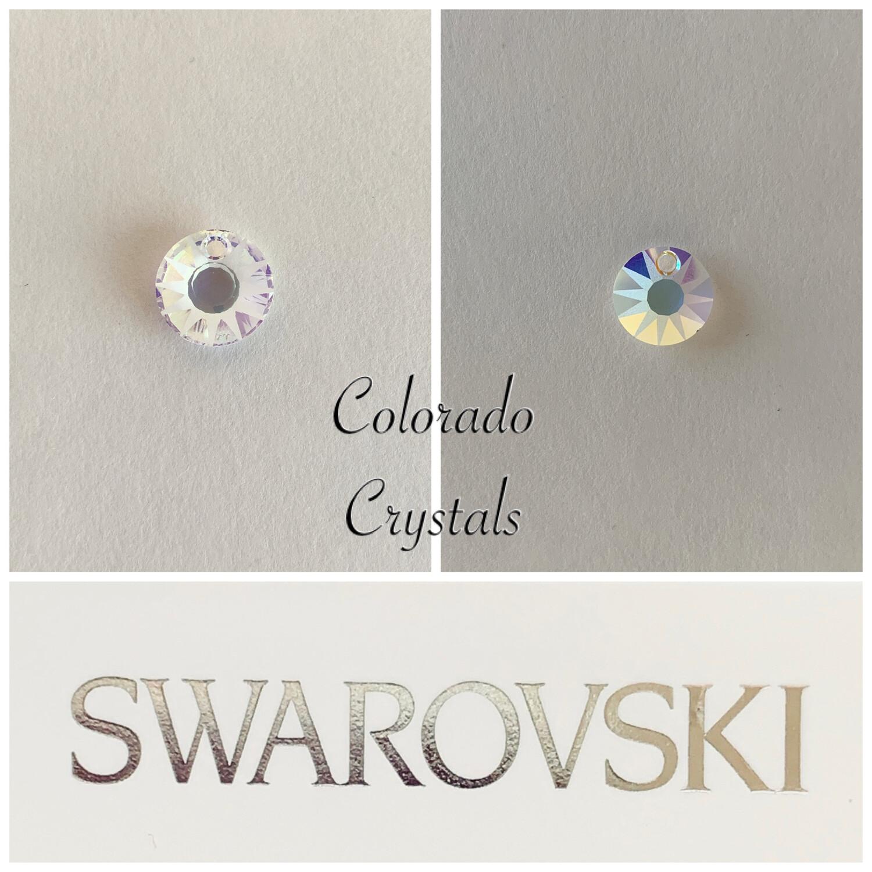 Sun Crystal AB Pendant #6724/G Swarovski
