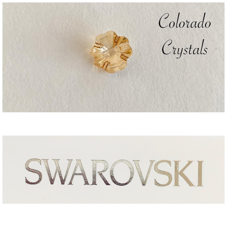 Clover Button Golden Shadow 3011 Swarovski