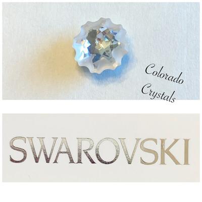Jelly Fish Fancy Stone Partly Frosted Crystal 4195 Swarovski
