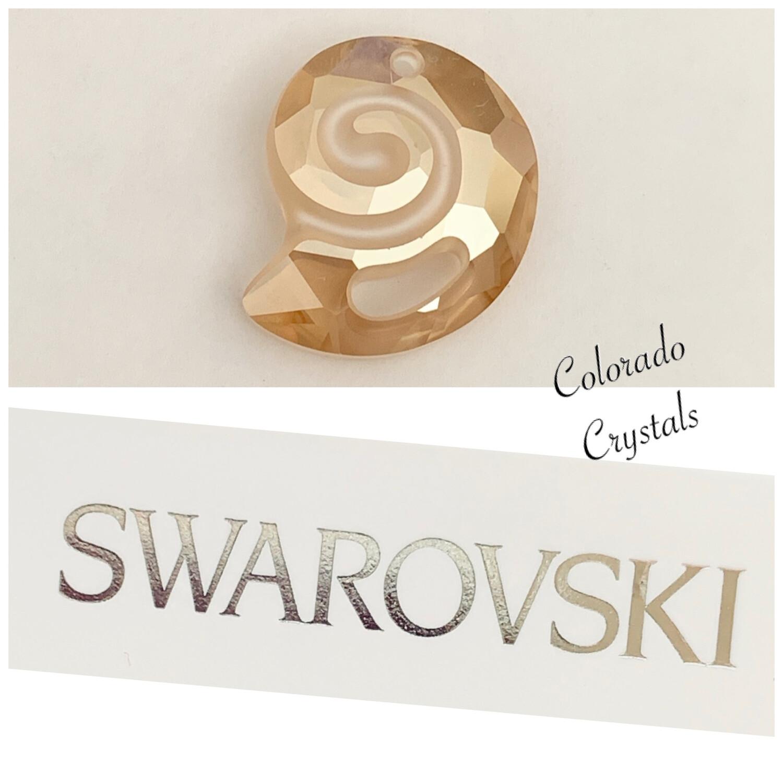 Sea Snail Pendant Golden Shadow 6731 Swarovski