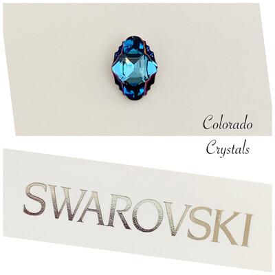 Oval Tribe Fancy Stone Aquamarine Metallic Blue 4926 Swarovski