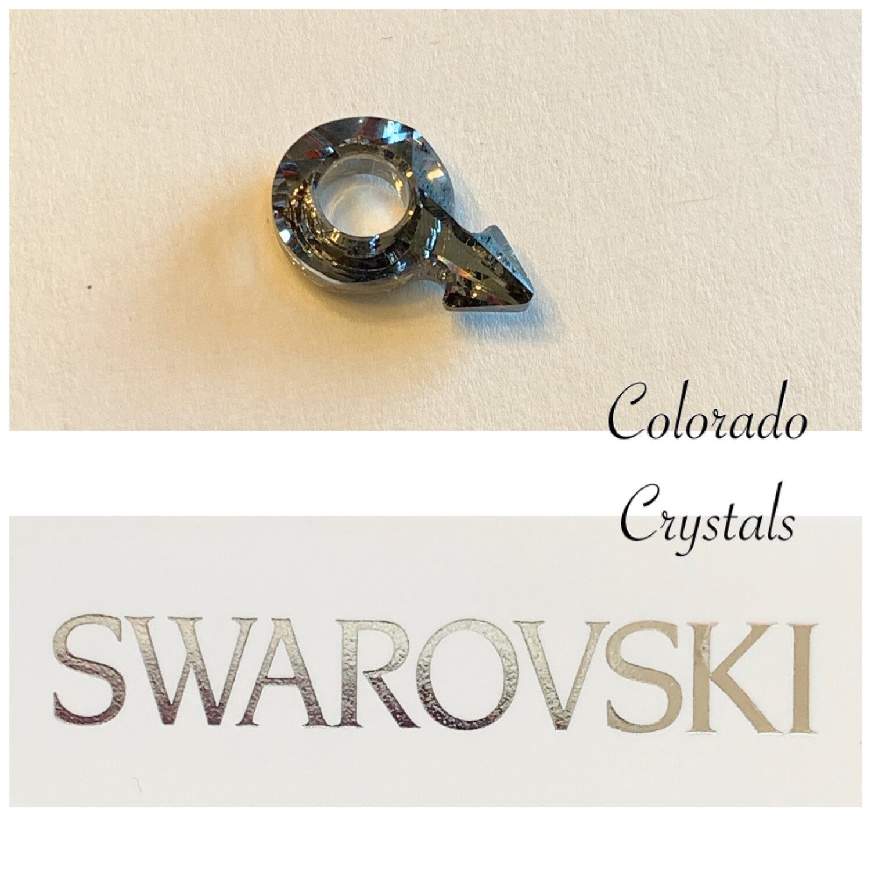 Male Symbol Fancy Stone Crystal AB 4878 Swarovski