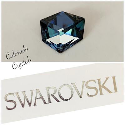 Tilted Dice Fancy Stone Crystal Sahara 4933 Swarovski
