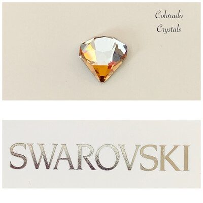 Tilted Chaton Fancy Stone Crystal Copper 4928 Swarovski