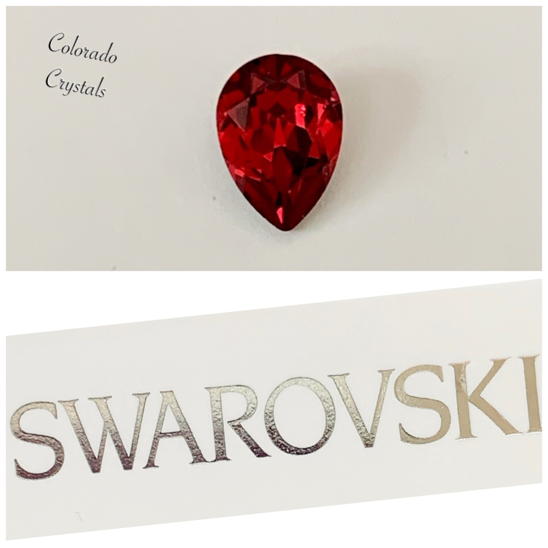 Pear Fancy Stone Scarlet 4320 Swarovski