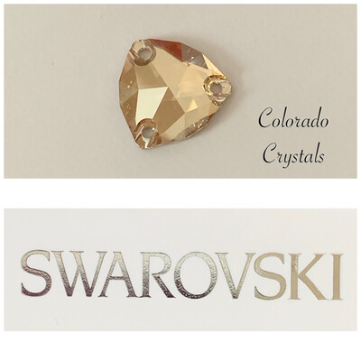 Trilliant Sew-on Stone Golden Shadow 3272 Swarovski