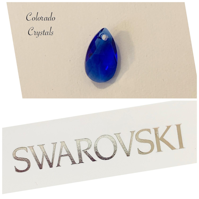 Pear Pendant Majestic Blue 6106 Swarovski
