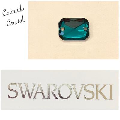 Emerald Cut Sew-on Stone Emerald Green 3252 Swarovski