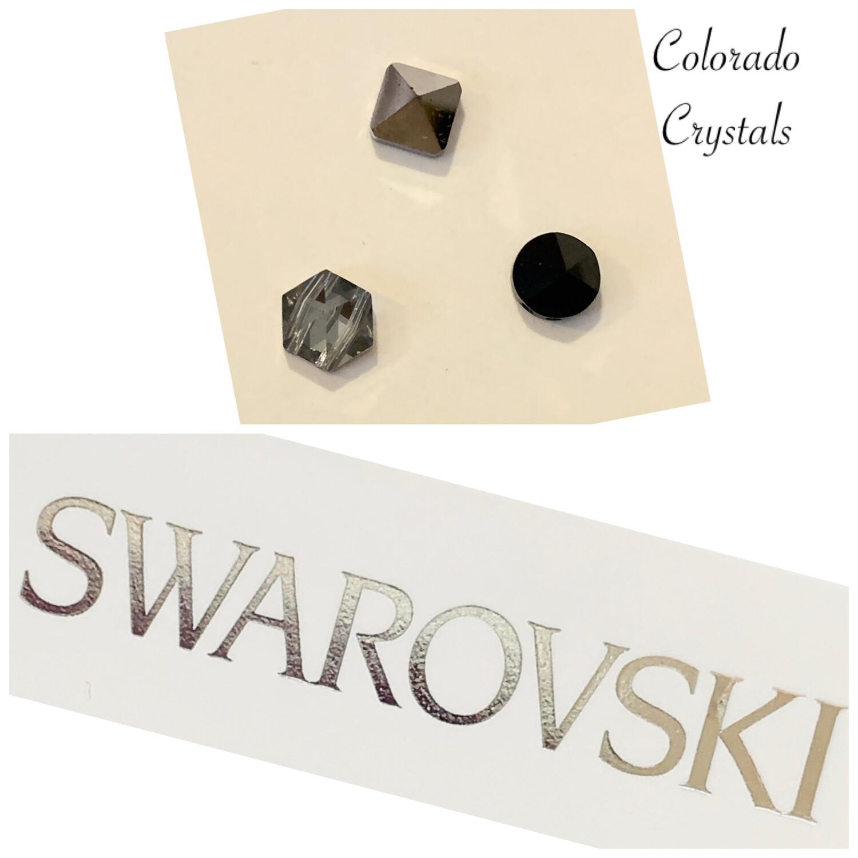Spike Bead Trio Silver & Black 5060,1,2 Swarovski