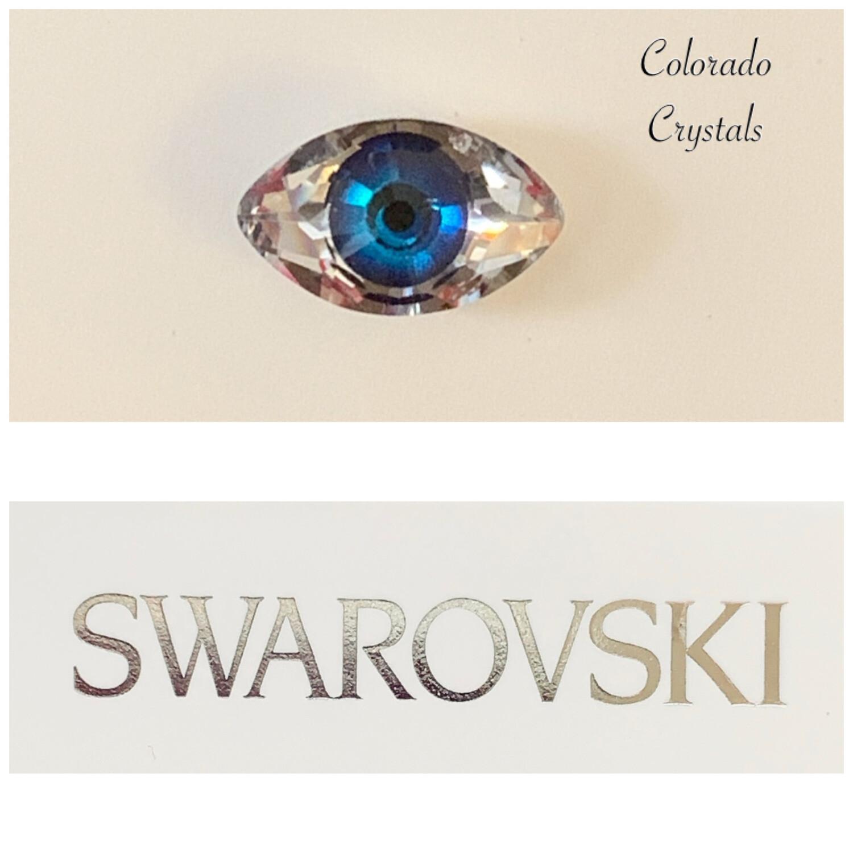 Eye Fancy Stone Comet Argent Light & Blue 4775 Swarovski