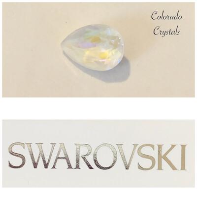 Pear Fancy Stone Crystal Light Grey DeLite 4320 Swarovski