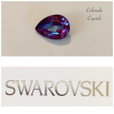 Pear Fancy Stone Crystal Burgundy DeLite 4320 Swarovski