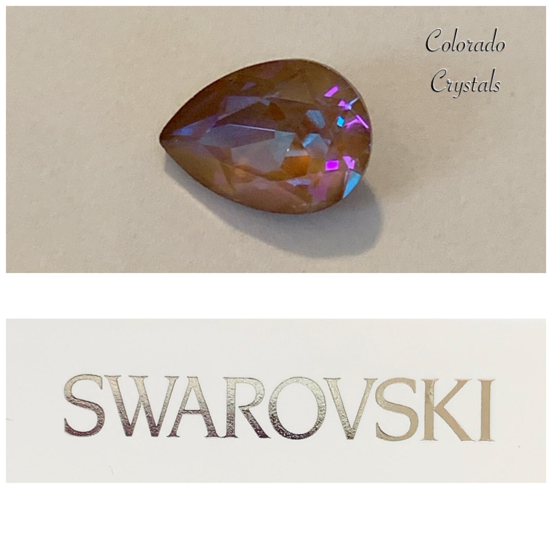 Pear Fancy Stone Crystal Cappuccino DeLite 4320 Swarovski