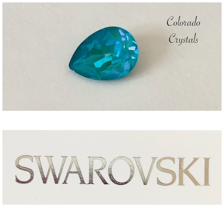 Pear Fancy Stone Crystal Laguna DeLite 4320 Swarovski