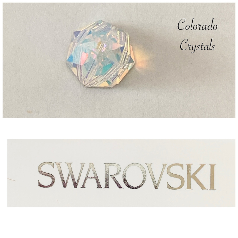 Round Spike Sew-On Crystal AB 3297 Swarovski
