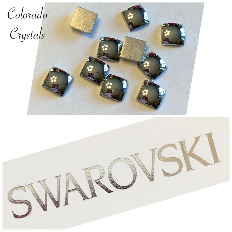 Cabochon Square F B 10pc set Light Chrome 2408/4 Swarovski