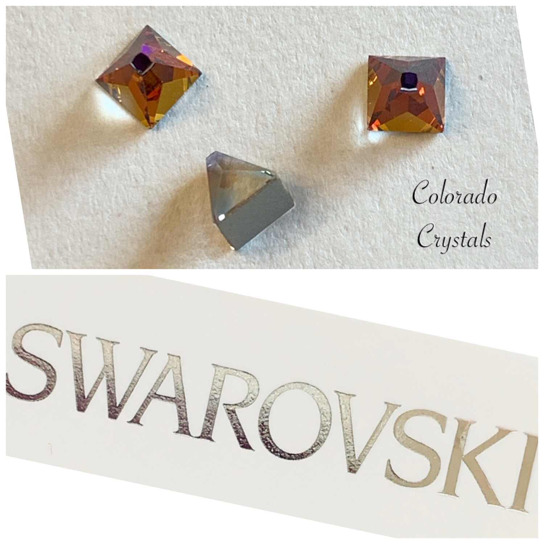 Square Spike F B 3 pcs set 2419 Volcano (Crystal) Swarovski