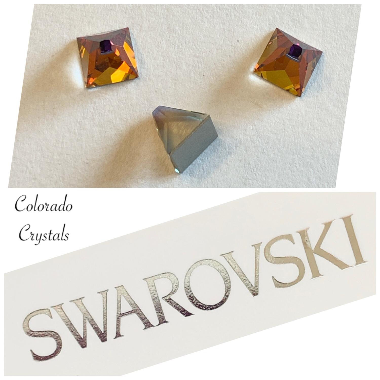 Square Spike F B 3 pcs set 6mm 2419 Volcano (Crystal) Swarovski