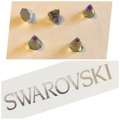Round Spike F B 5 pcs set 6mm 2019 Black Diamond Shimmer Swarovski