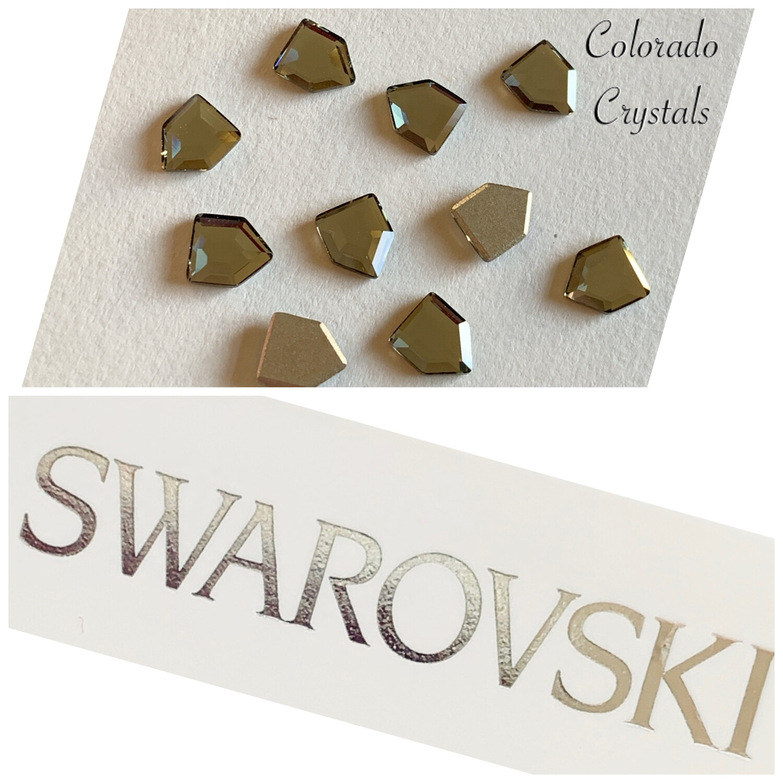 Concise Pentagon FB 10pc Black Diamond 2775 6.7 x 5.6 mm Swarovski