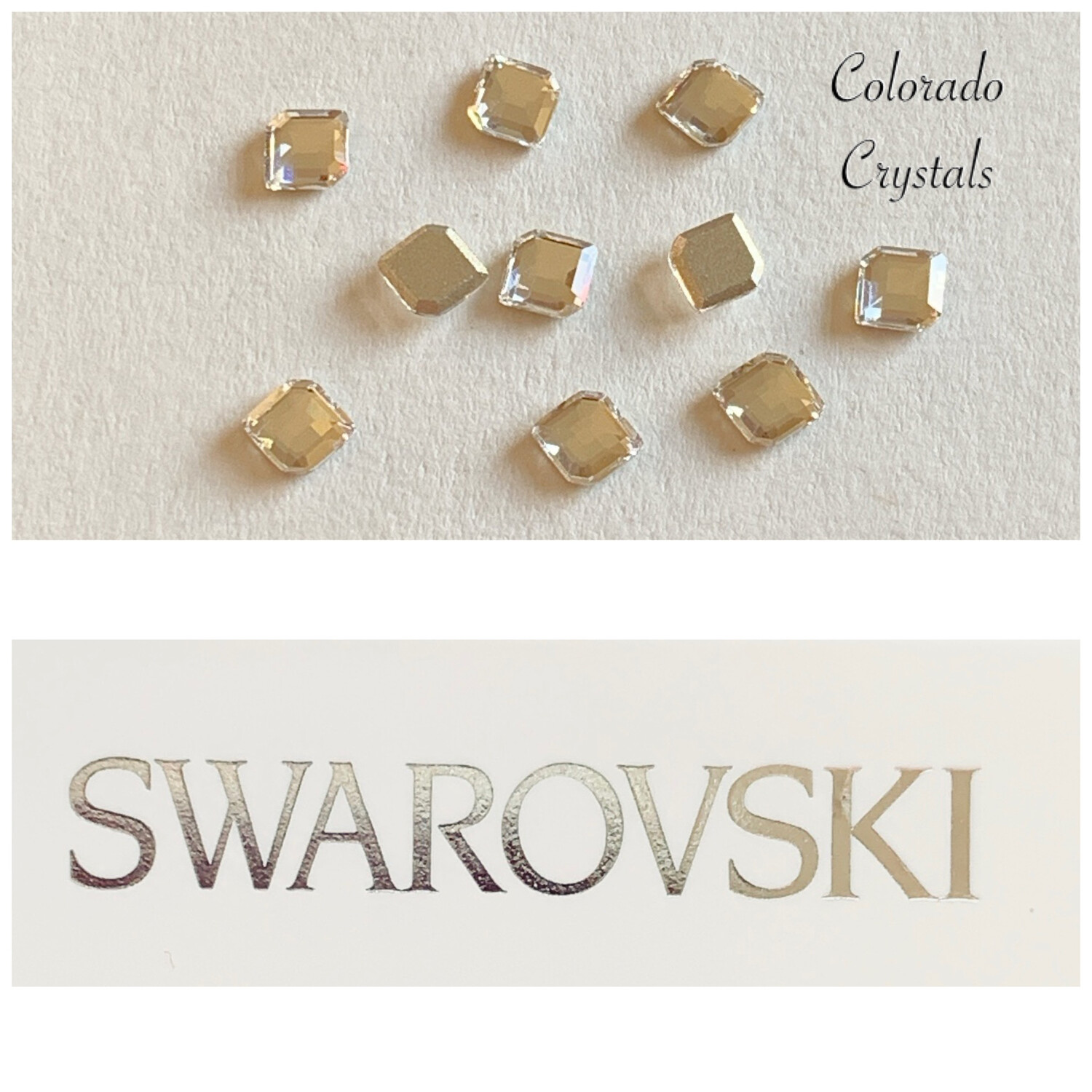 Concise Hexagon FB 10pc Crystal 2777 5X4.2 mm Swarovski