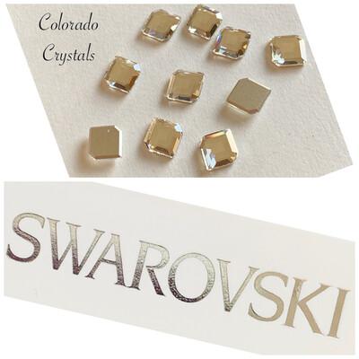 Concise Hexagon FB 10pc Crystal 2777 10X8.4mm Swarovski