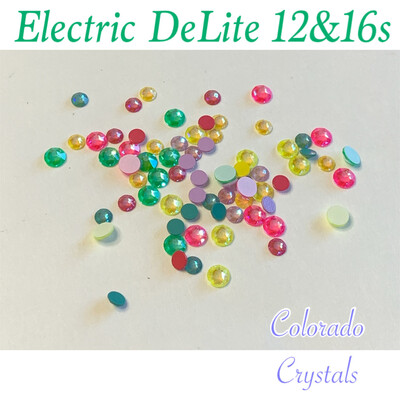 Electric DeLite 12 & 16ss Assortment Crystal Mix Swarovski 2088