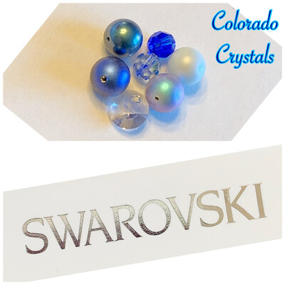 Bead Assorted Pack - Blue Swarovski