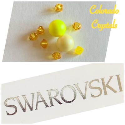 Bead Assorted Pack - Yellow Swarovski