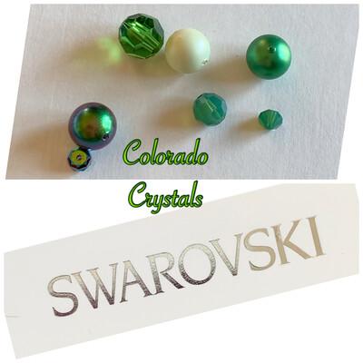 Bead Assorted Pack - Green Swarovski