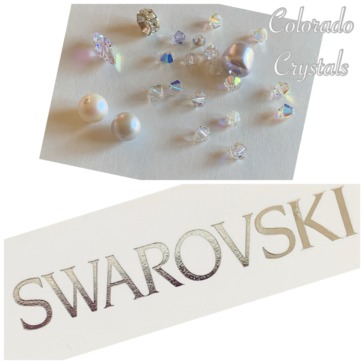 Bead Assorted Pack - Whites Swarovski