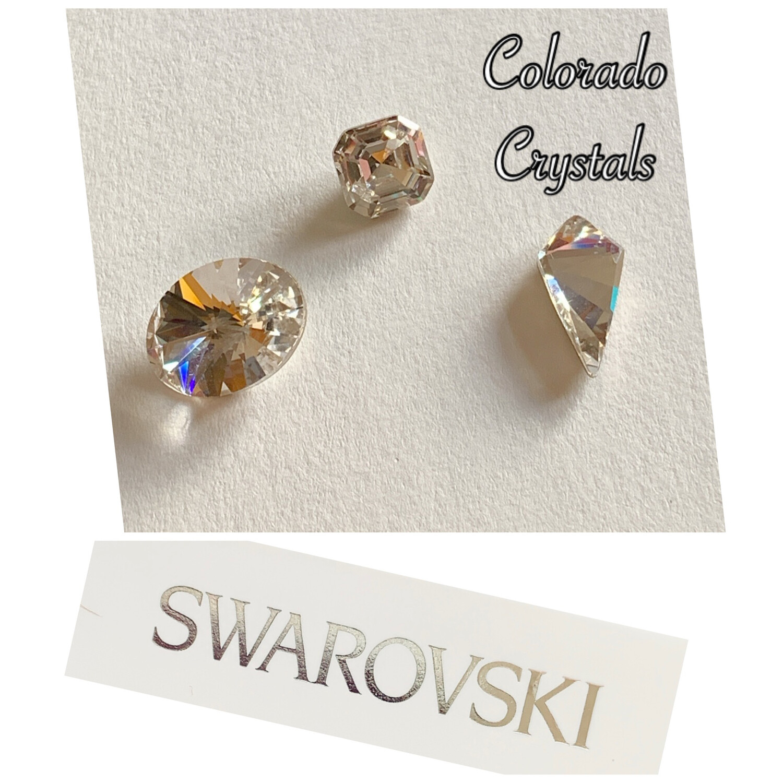 Crystal Cushion Trio - Swarovski 4122 4480 4731